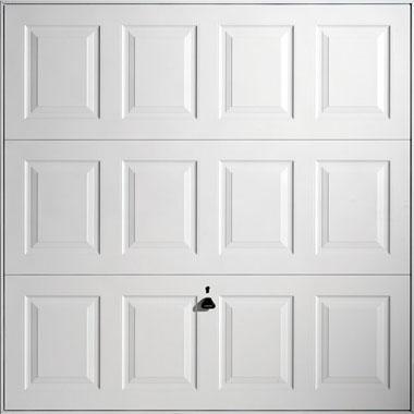 Georgian White Steel Garage Door
